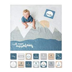 Lulujo, Baby's First Year™ Blanket & Cards, I Move Mountains