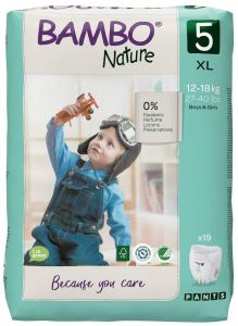 Bambo Nature Diapers No. 2 SIZE 5 PANTS- (Weight: 12-18 KG)