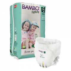 Bambo Nature Diapers No. 3 SIZE 6 PANTS- (Weight: 16+ KG)