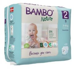 Bambo Nature Diapers No. 2 SIZE 2 (Weight: 3-6 KG)