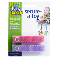 Baby Buddy -Secure-A-Toy, Pink Purple