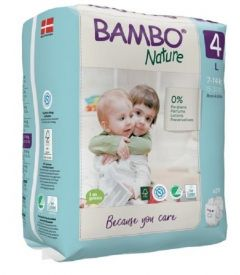 Bambo Nature Diapers No. 4 SIZE 4 (TALL)- (Weight: 7-14 KG)