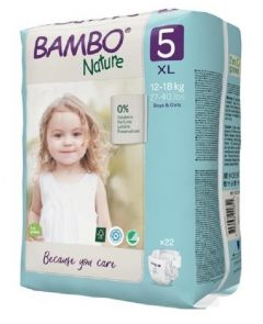 Bambo Nature Diapers No. 5 SIZE 5 - (Weight: 12-18 KG)