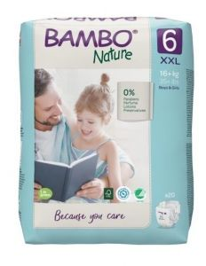Bambo Nature Diapers No. 6 SIZE 6- (Weight: 16+ KG)