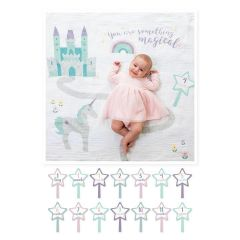 Lulujo - Baby's First Year  Blanket&Cards Set- Something Magical