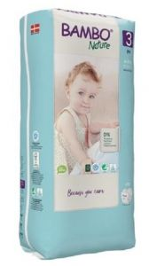 Bambo Nature Diapers No. 3 SIZE 3 (TALL) -(Weight: 4-8 KG)
