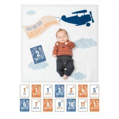 Lulujo - Baby's First Year Blanket&Cards Set