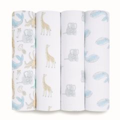 aden + anais Essentials 4 Pack Swaddles - Natural History