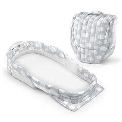 Baby Delight Snuggle Nest Surround XL - Silver Cloud