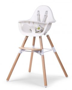 Childhome Evolu 2 Chair 2 in1Bumper Natural - White