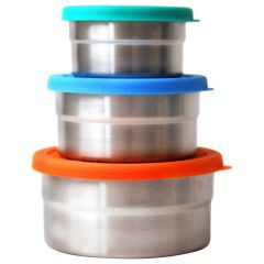Eco Lunchbox-Seal Cup Solo Teal  Multicolor 3Pcs