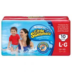 Huggies  little swimmers large 14kg 10diapers