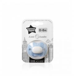 Tommee Tippee Little London Soother, 0- 6 months - Blue