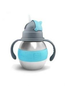 Haakaa 280ml Wide Neck Stainless Steel Thermal Baby Bottle - Blue