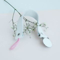 White Pacifier/Teether Clip